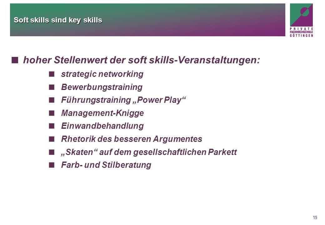 Soft skills sind key skills