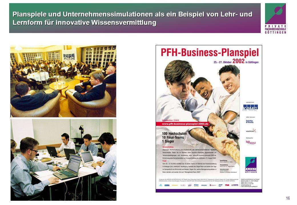Planspiele und Unternehmenssimulationen als ein Beispiel von Lehr- und Lernform für innovative Wissensvermittlung
