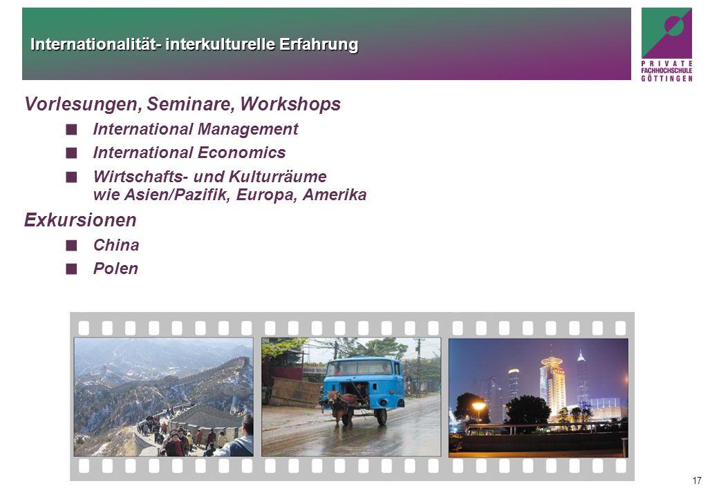 Internationalität- interkulturelle Erfahrung