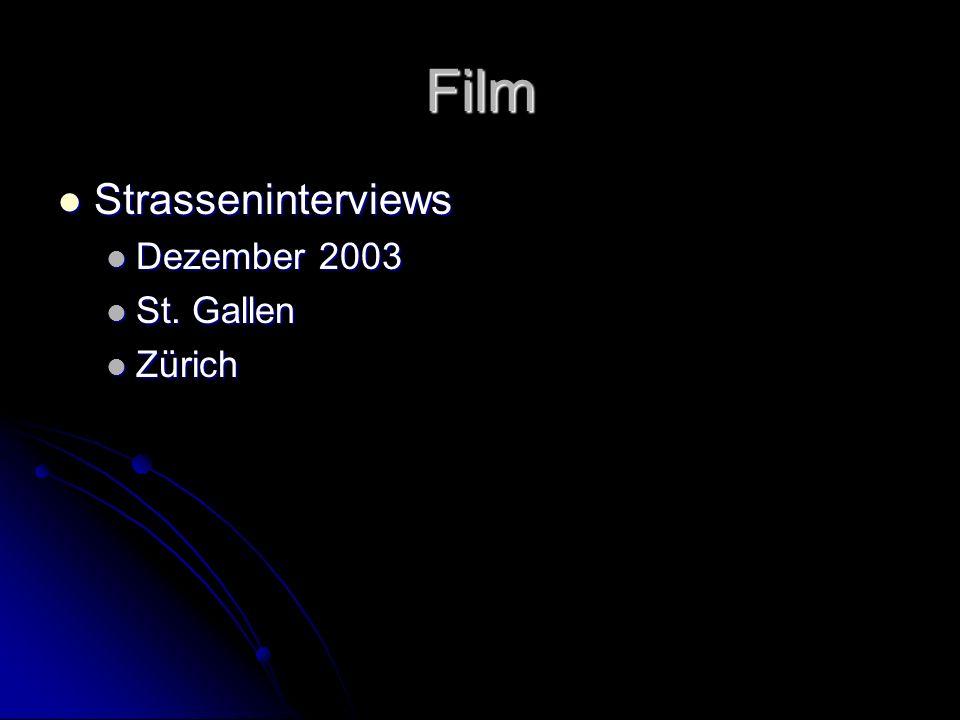Film Strasseninterviews Dezember 2003 St. Gallen Zürich