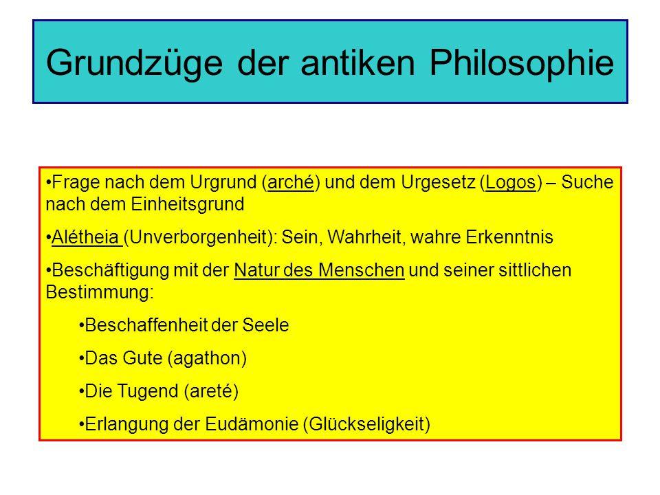 Grundzüge der antiken Philosophie