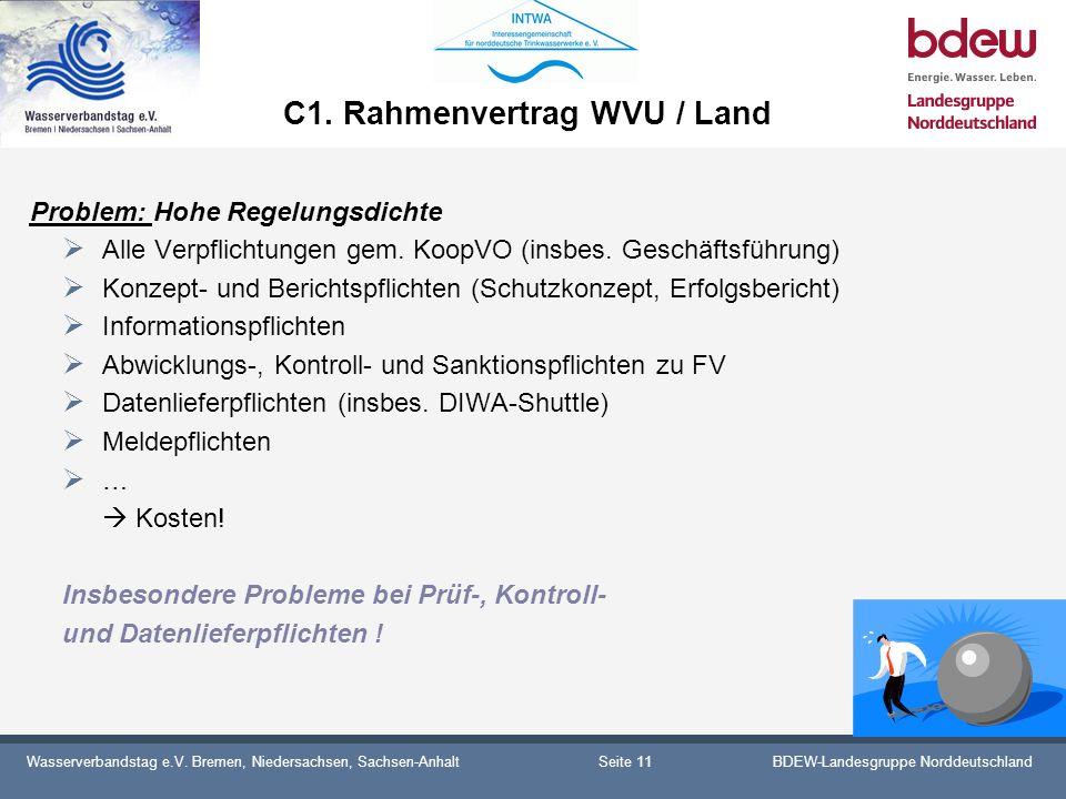 C1. Rahmenvertrag WVU / Land