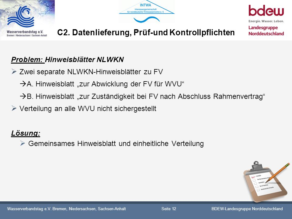 C2. Datenlieferung, Prüf-und Kontrollpflichten