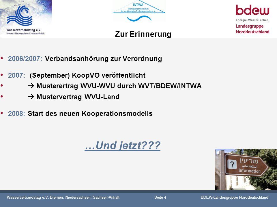 Zur Erinnerung 2006/2007: Verbandsanhörung zur Verordnung
