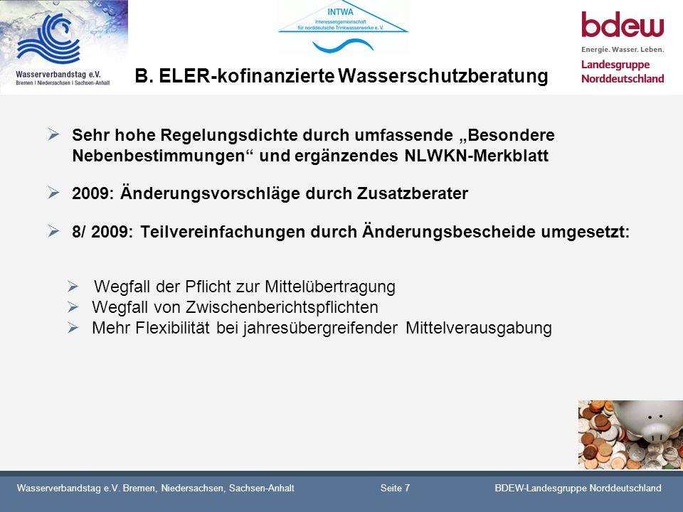 B. ELER-kofinanzierte Wasserschutzberatung