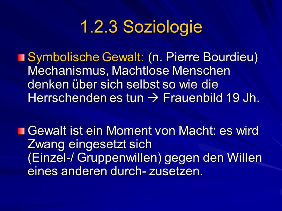 1.2.3 Soziologie