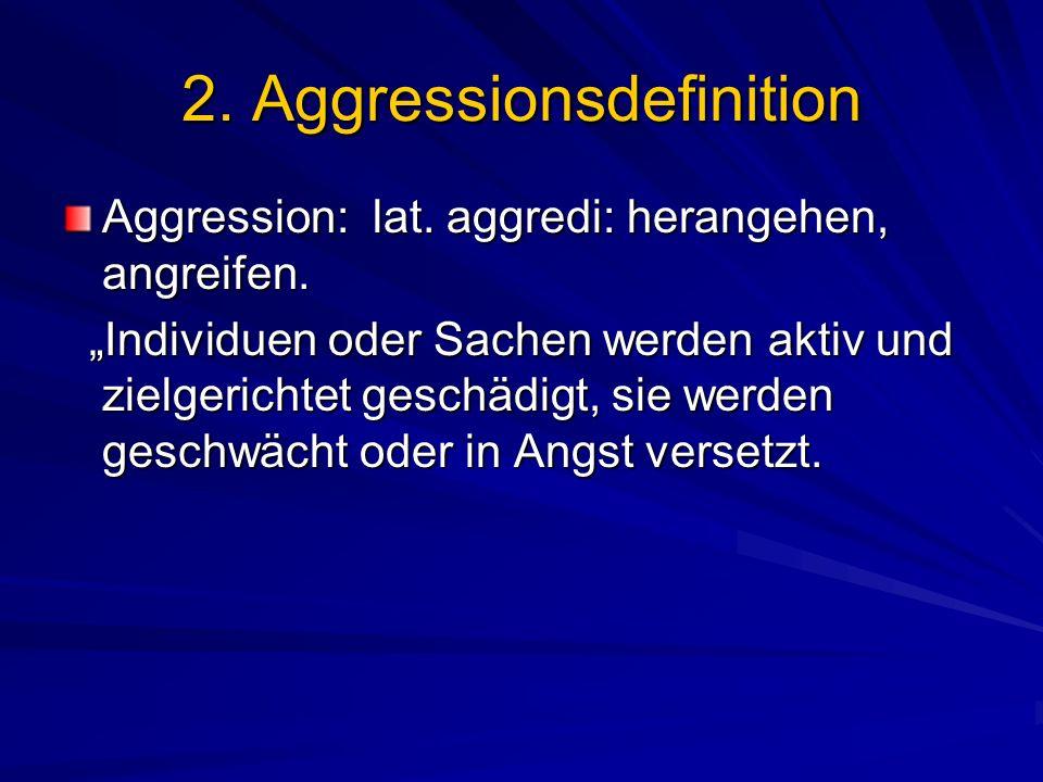 2. Aggressionsdefinition