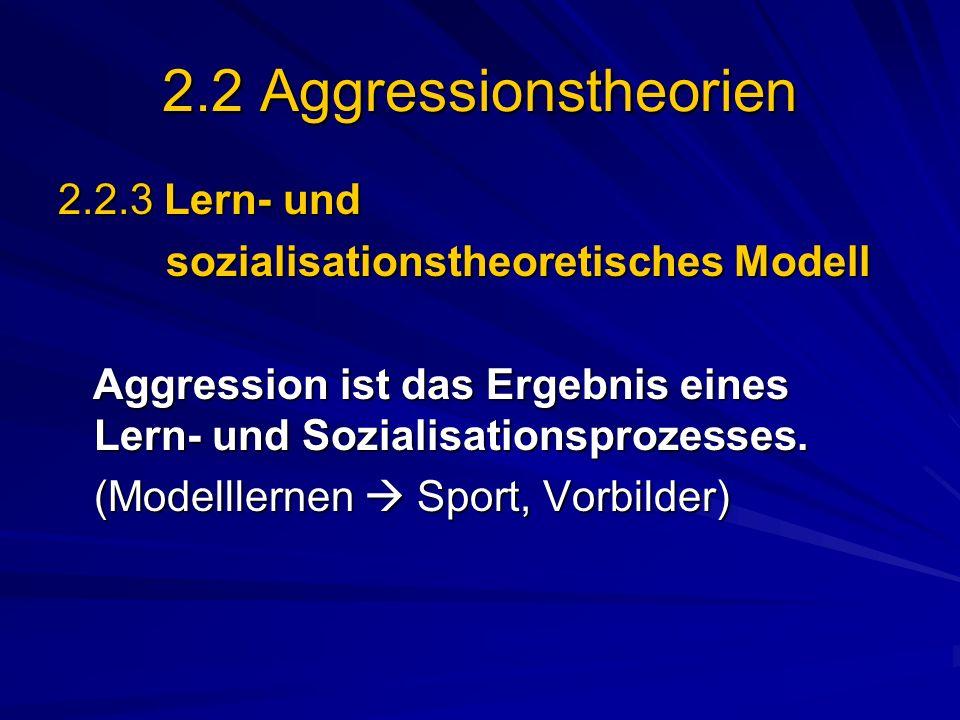 2.2 Aggressionstheorien 2.2.3 Lern- und