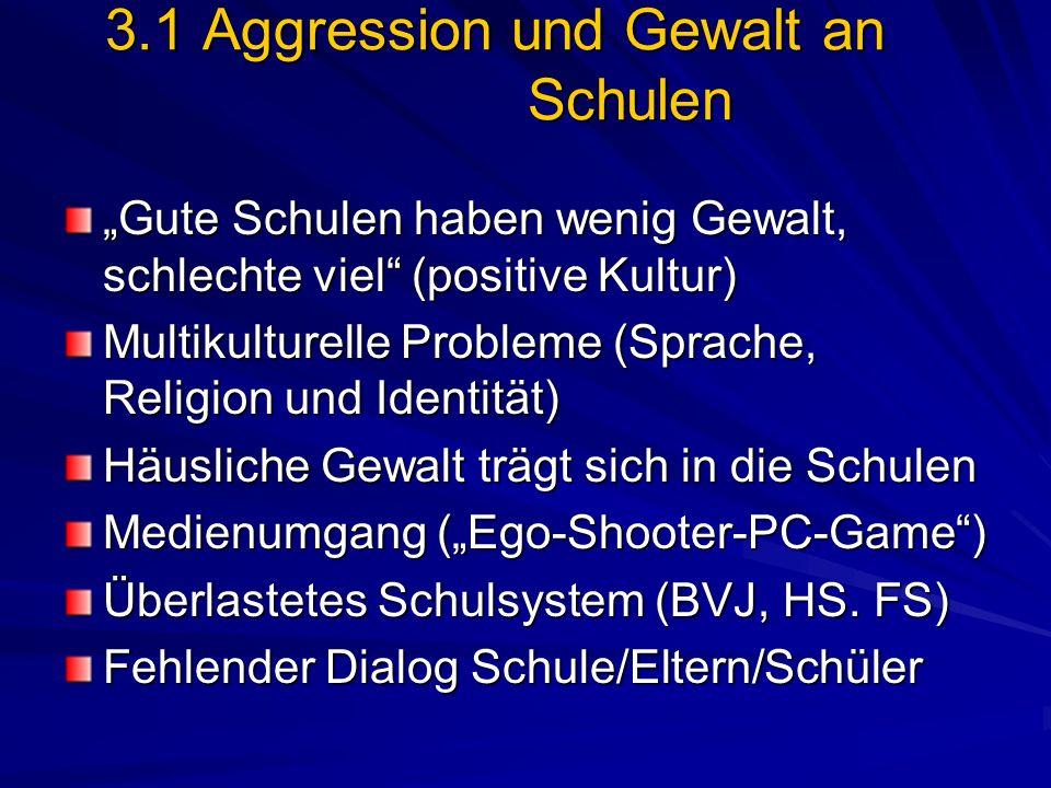 3.1 Aggression und Gewalt an Schulen