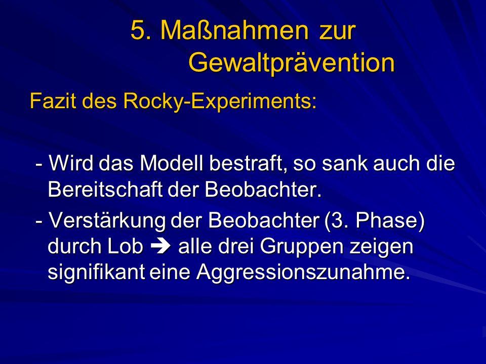5. Maßnahmen zur Gewaltprävention