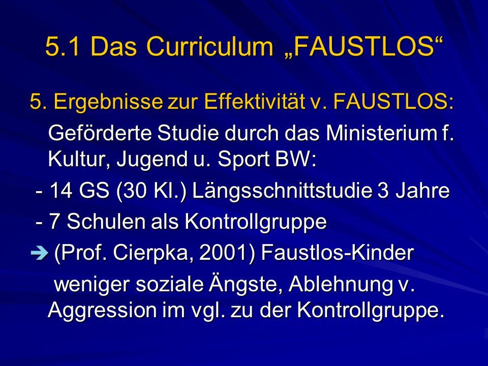 "5.1 Das Curriculum ""FAUSTLOS"