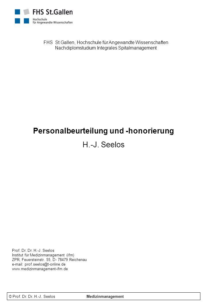 Personalbeurteilung und -honorierung