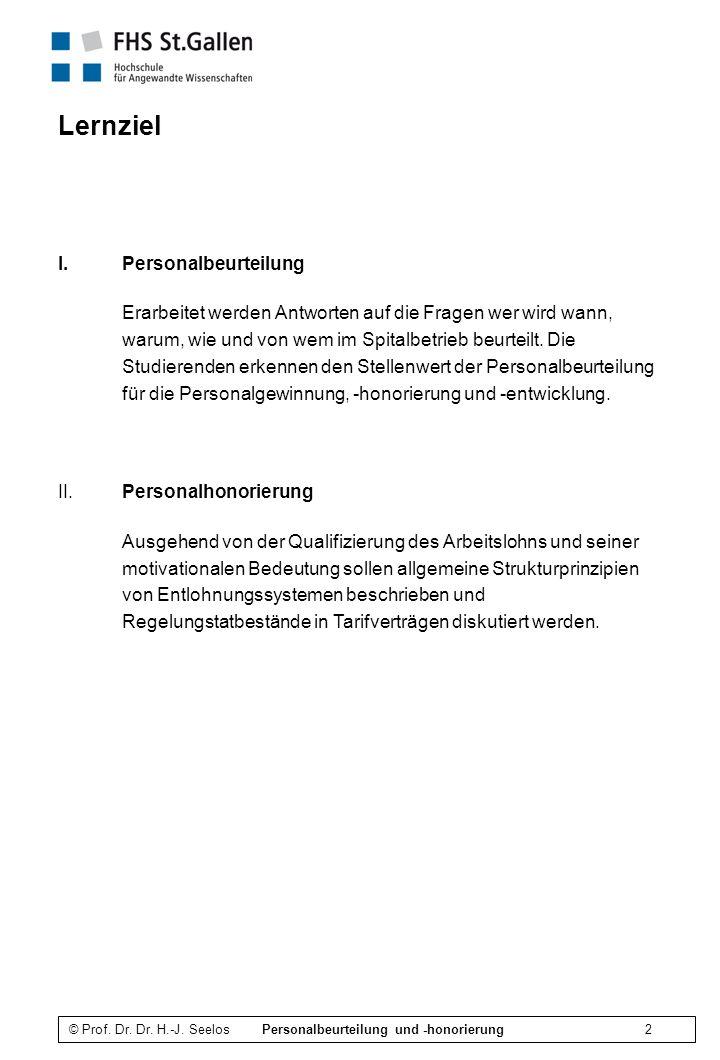 Lernziel Personalbeurteilung