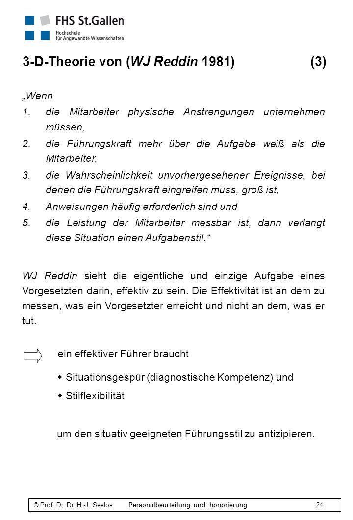 3-D-Theorie von (WJ Reddin 1981) (3)