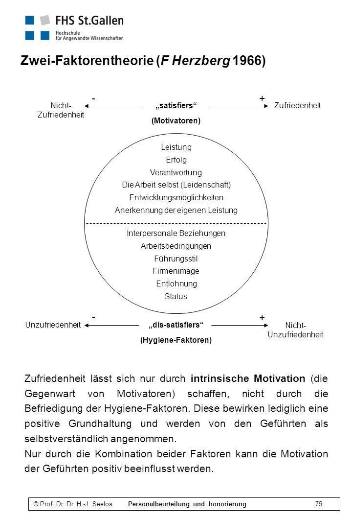 Zwei-Faktorentheorie (F Herzberg 1966)