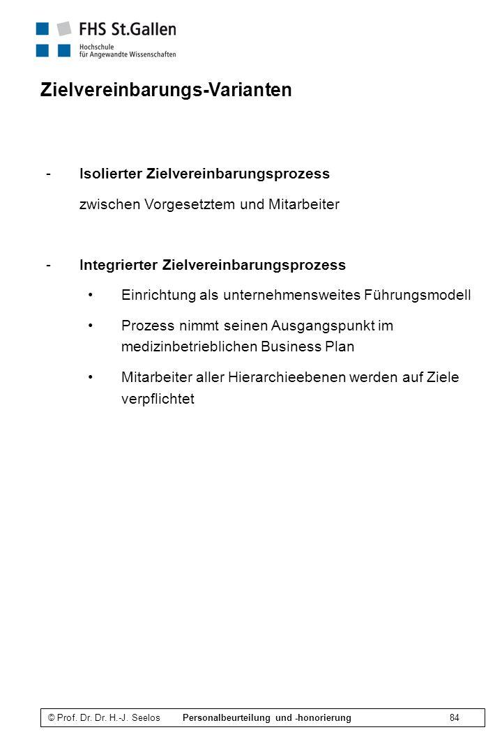 Zielvereinbarungs-Varianten