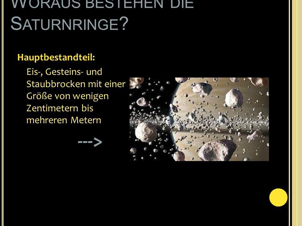 Woraus bestehen die Saturnringe