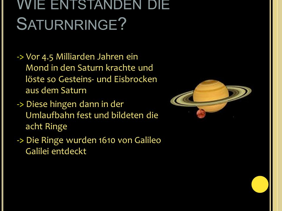 Wie entstanden die Saturnringe