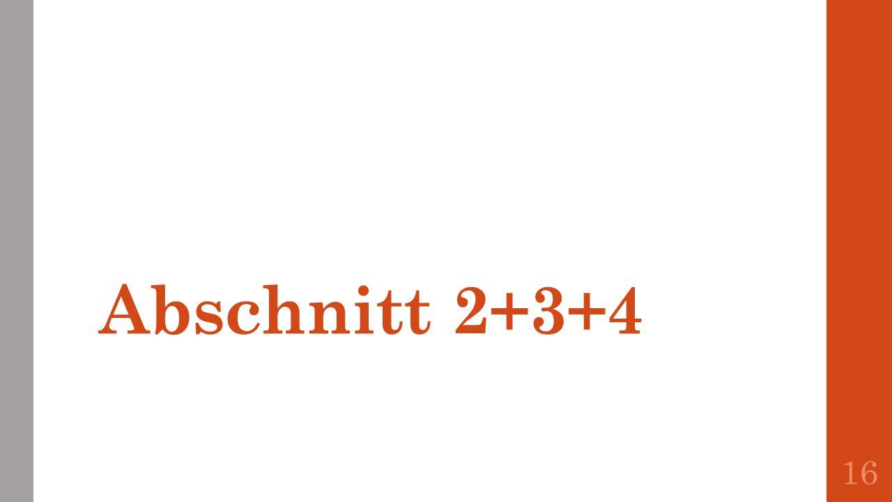 Abschnitt 2+3+4
