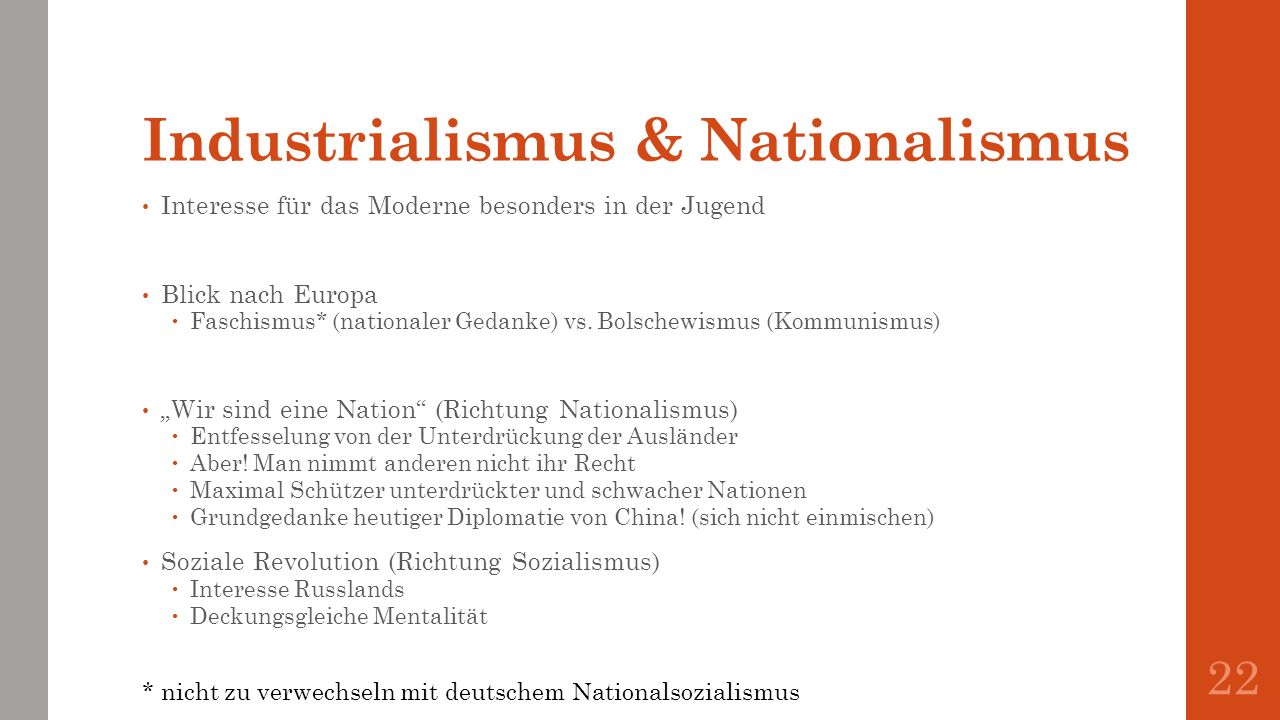 Industrialismus & Nationalismus