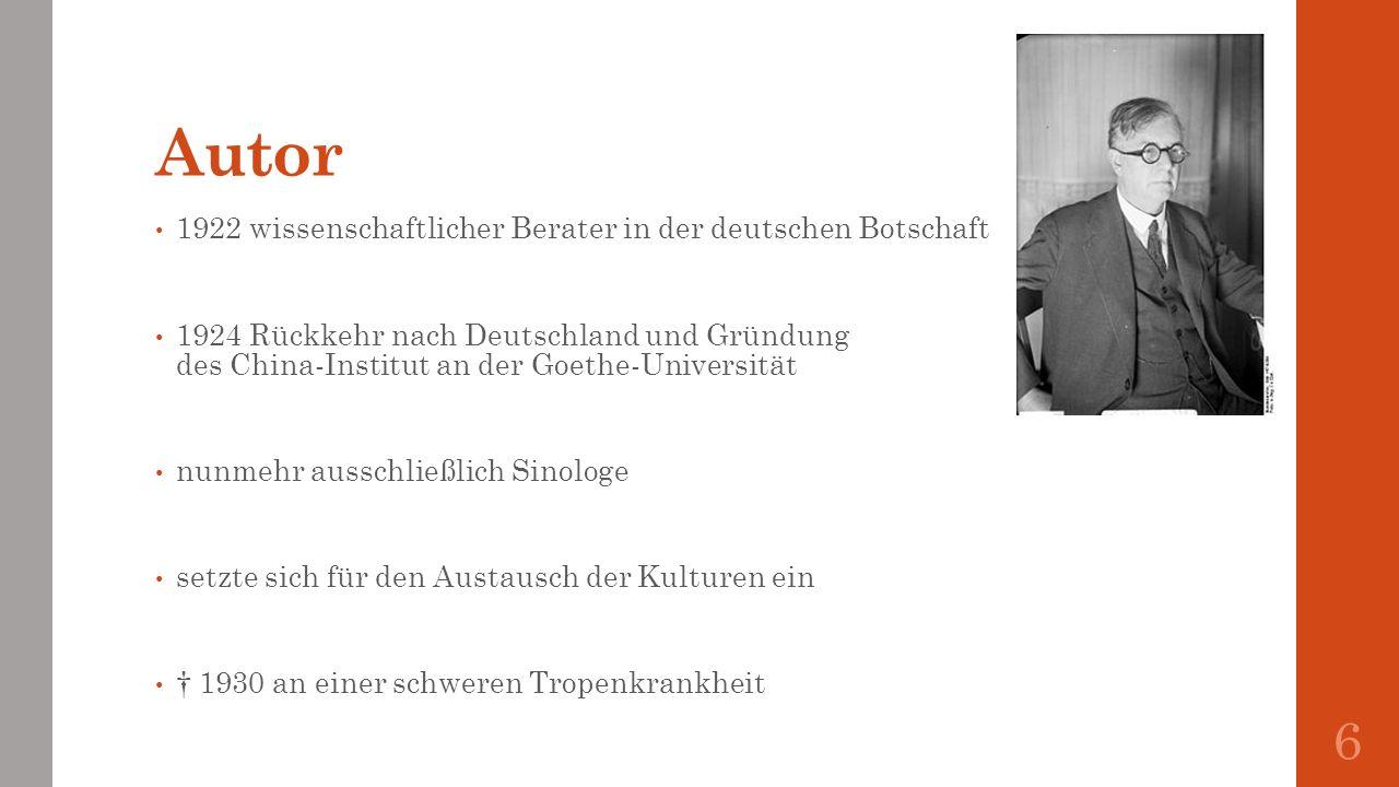 Autor 1922 wissenschaftlicher Berater in der deutschen Botschaft