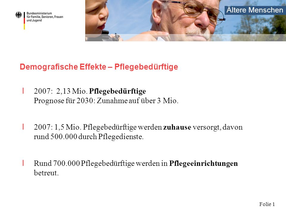Beschäftigungsfeld Altenpflege
