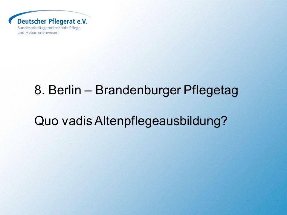 8. Berlin – Brandenburger Pflegetag