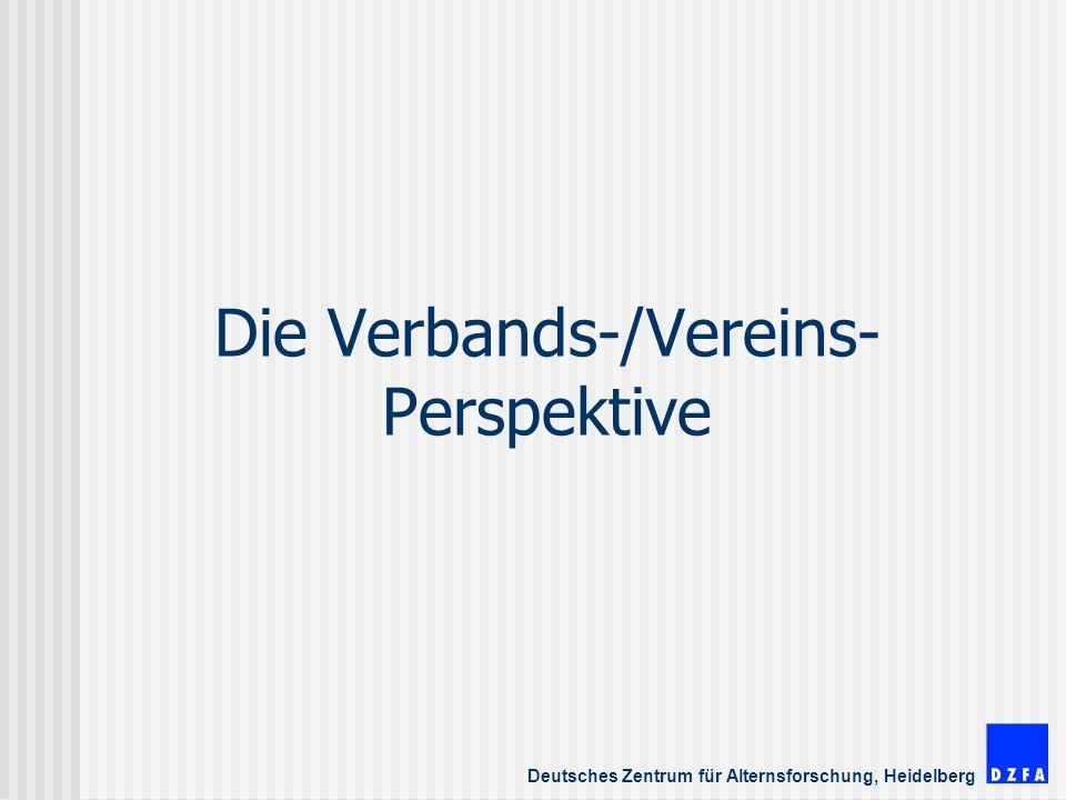 Die Verbands-/Vereins-Perspektive