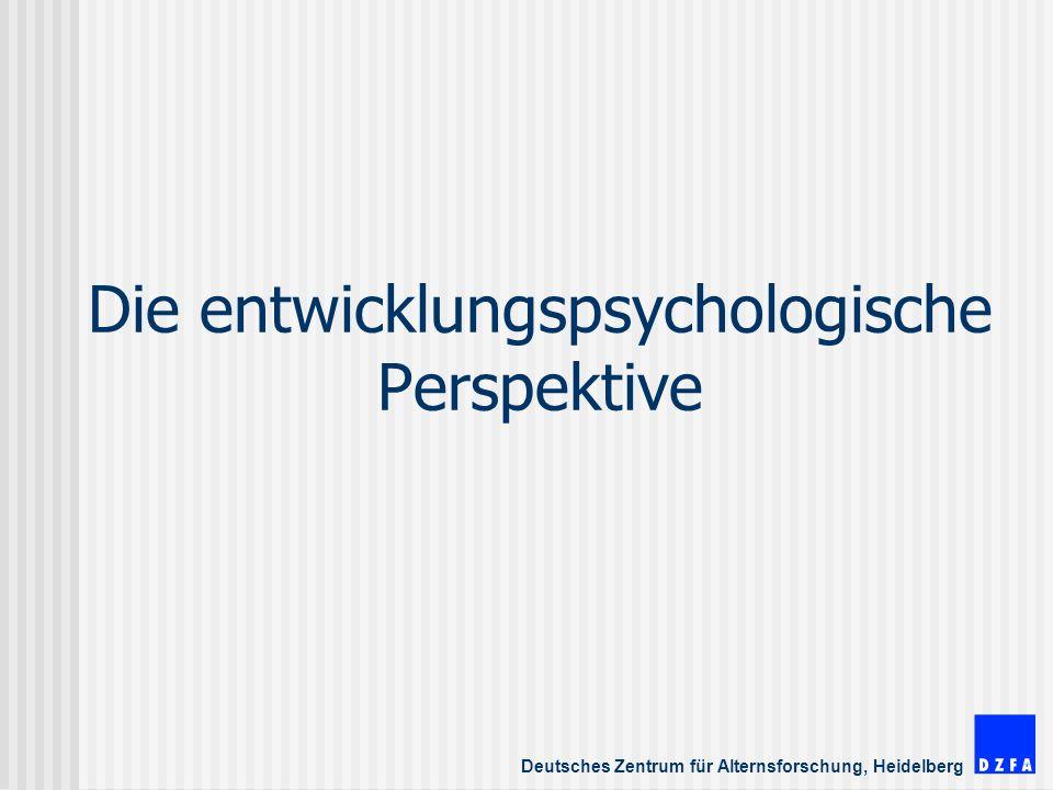 Die entwicklungspsychologische Perspektive