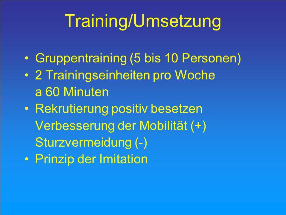 Training/Umsetzung Gruppentraining (5 bis 10 Personen)