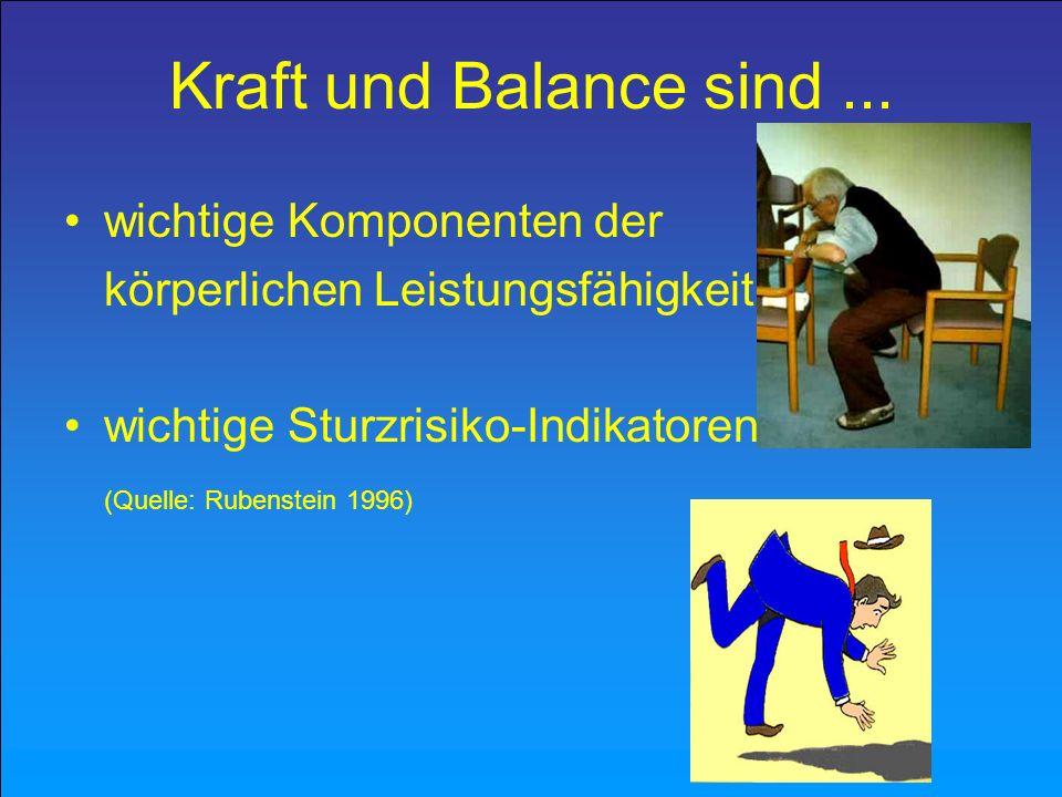 Kraft und Balance sind ... wichtige Komponenten der