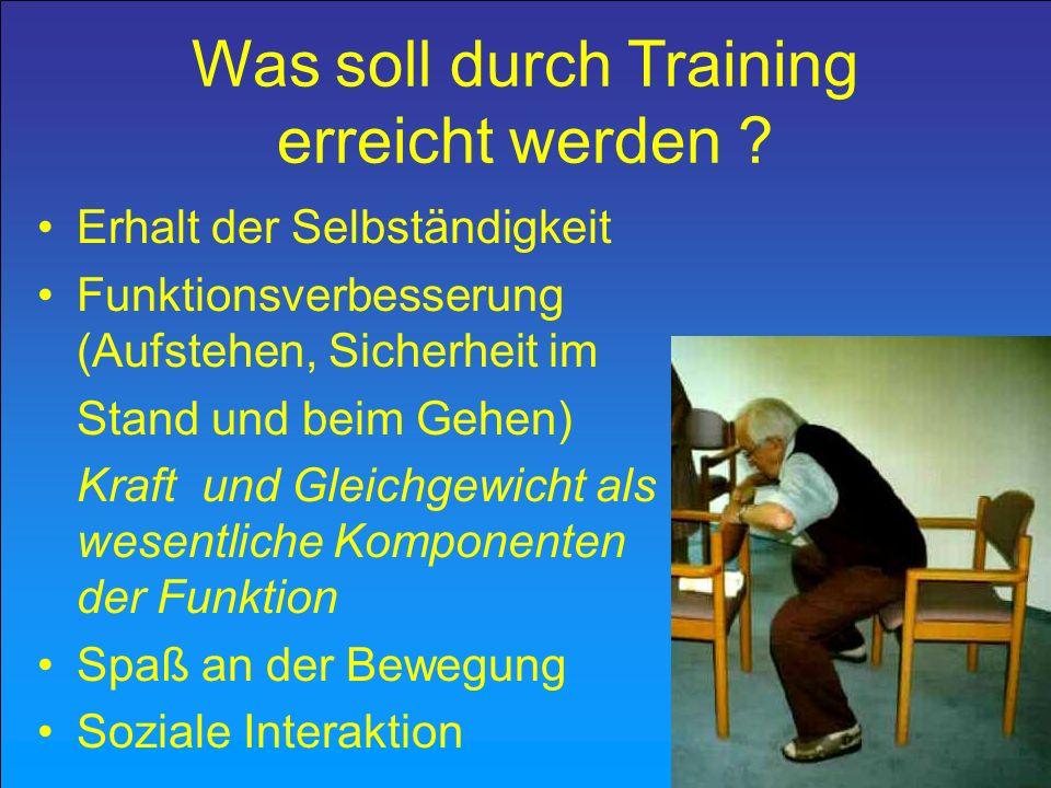 Was soll durch Training erreicht werden