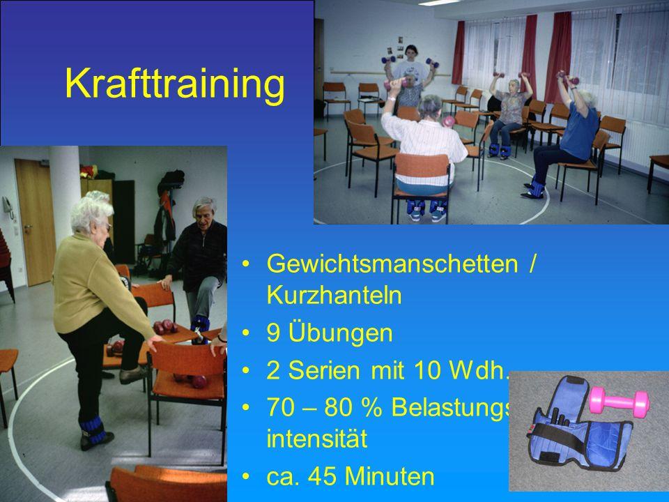Krafttraining Gewichtsmanschetten / Kurzhanteln 9 Übungen