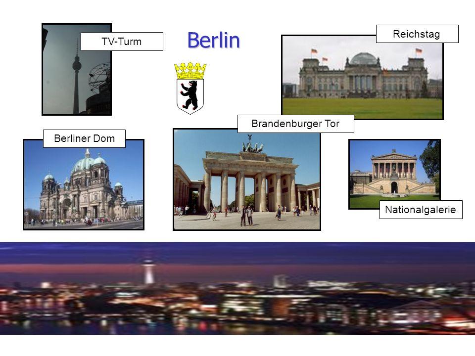 Berlin Reichstag TV-Turm Brandenburger Tor Berliner Dom