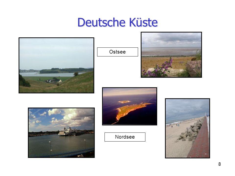 Deutsche Küste Ostsee Nordsee