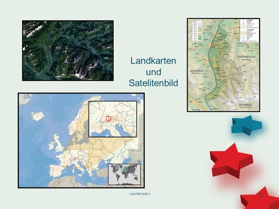 Landkarten und Satelitenbild