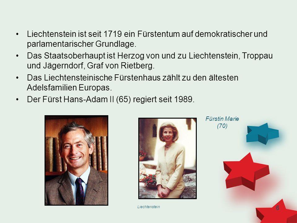 Der Fürst Hans-Adam II (65) regiert seit 1989.