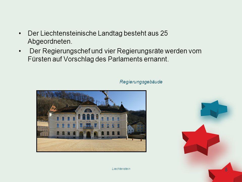 Der Liechtensteinische Landtag besteht aus 25 Abgeordneten.