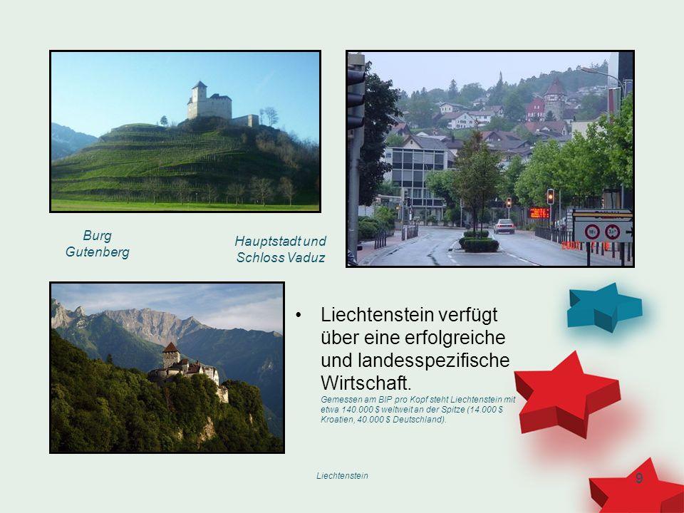 Hauptstadt und Schloss Vaduz