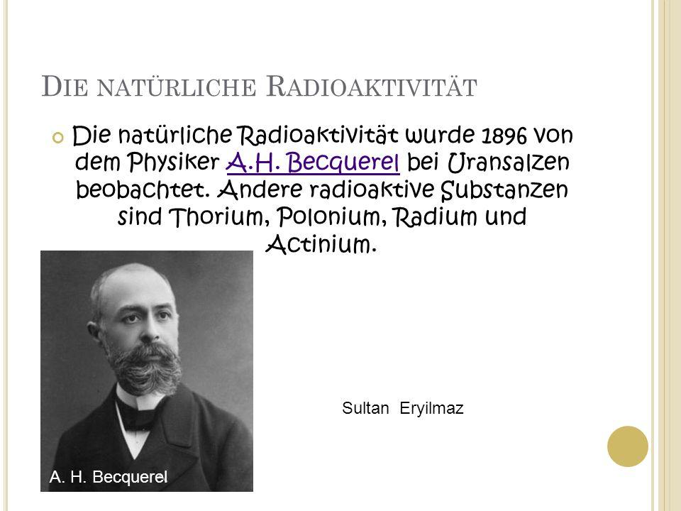Die natürliche Radioaktivität