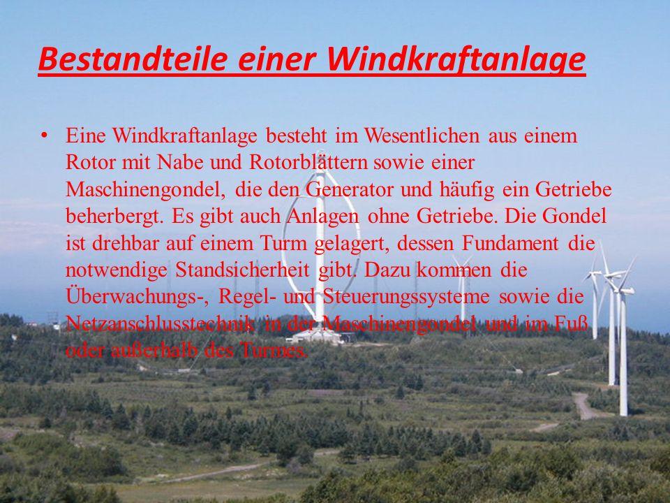 Bestandteile windkraftanlage