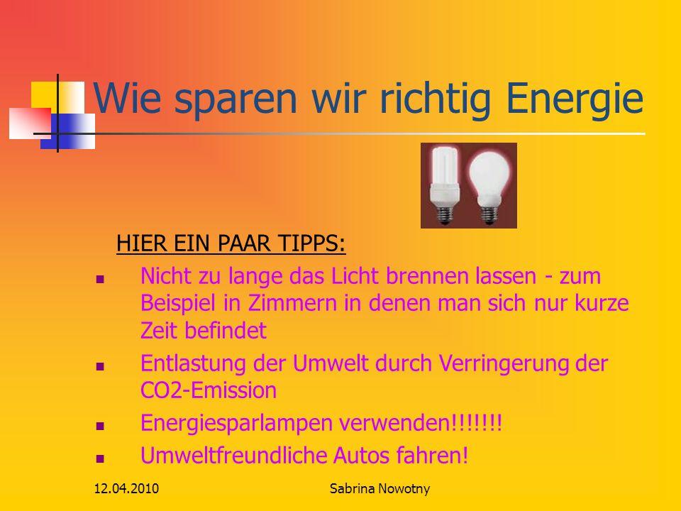 Wie sparen wir richtig Energie