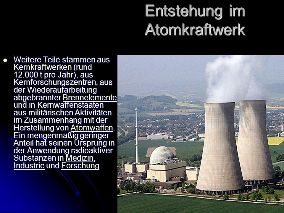 Entstehung im Atomkraftwerk