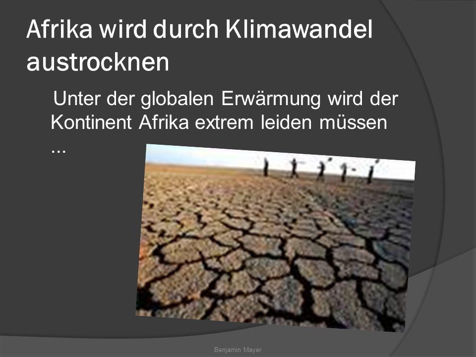 Afrika wird durch Klimawandel austrocknen