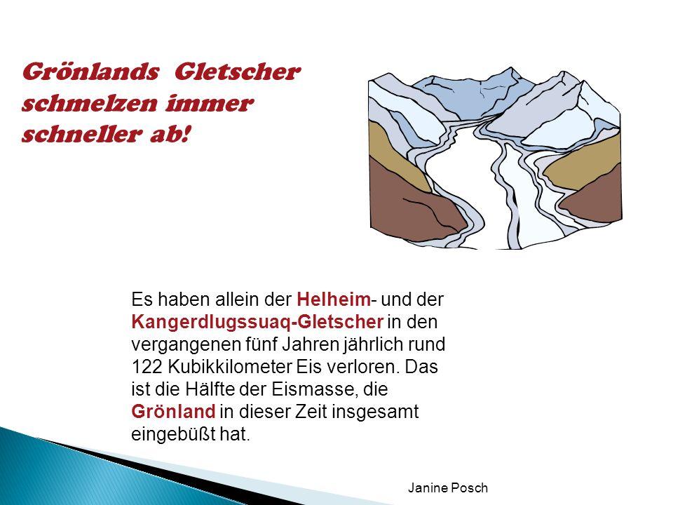 Grönlands Gletscher schmelzen immer schneller ab!