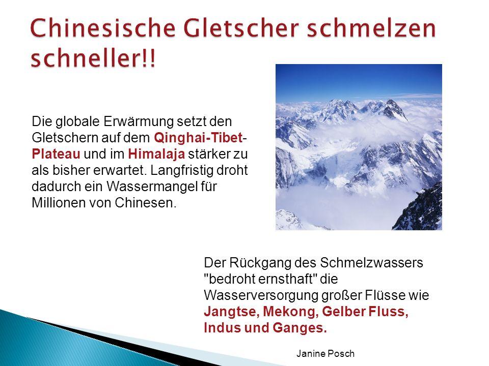 Chinesische Gletscher schmelzen schneller!!
