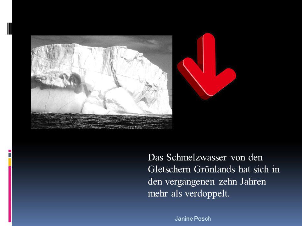 Das Schmelzwasser von den Gletschern Grönlands hat sich in den vergangenen zehn Jahren mehr als verdoppelt.