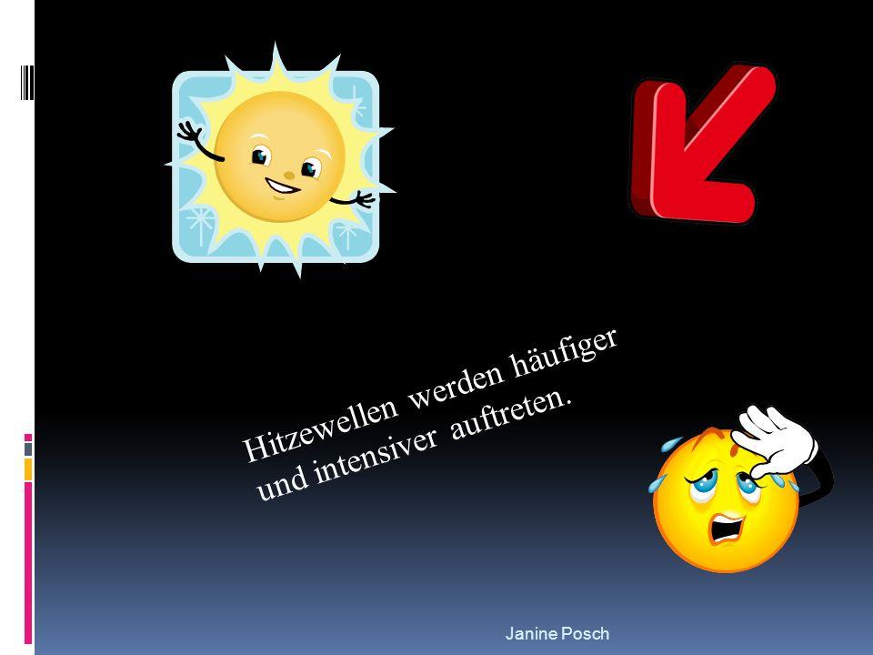 Hitzewellen werden häufiger und intensiver auftreten.