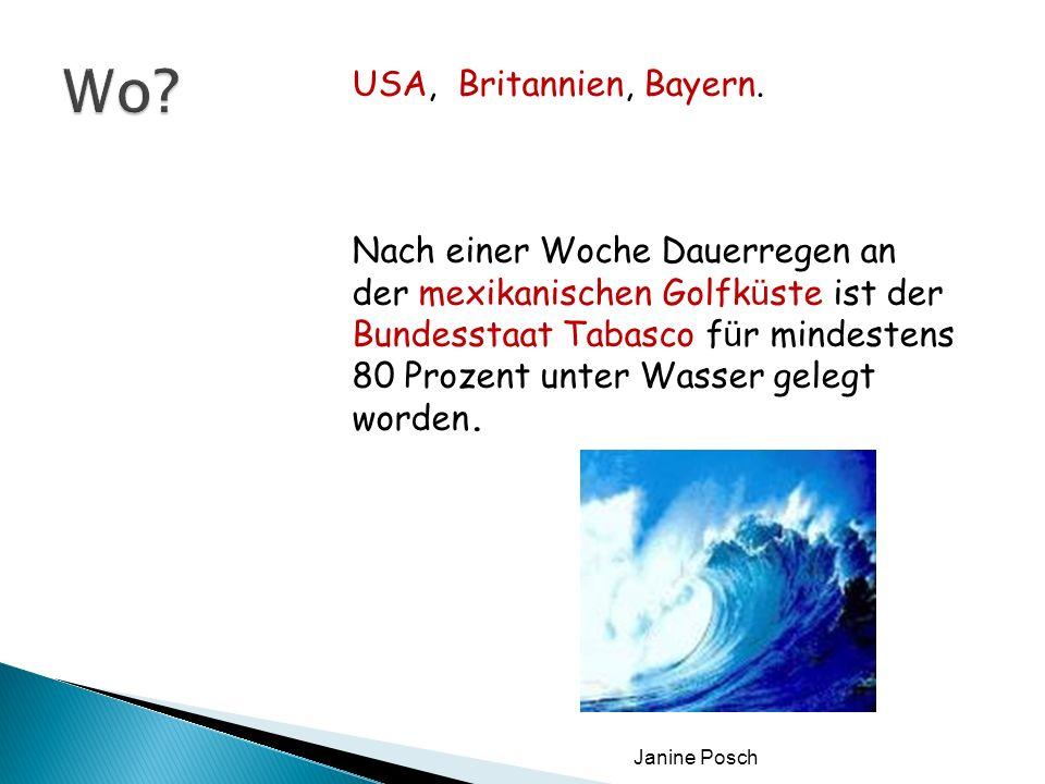 Wo USA, Britannien, Bayern.