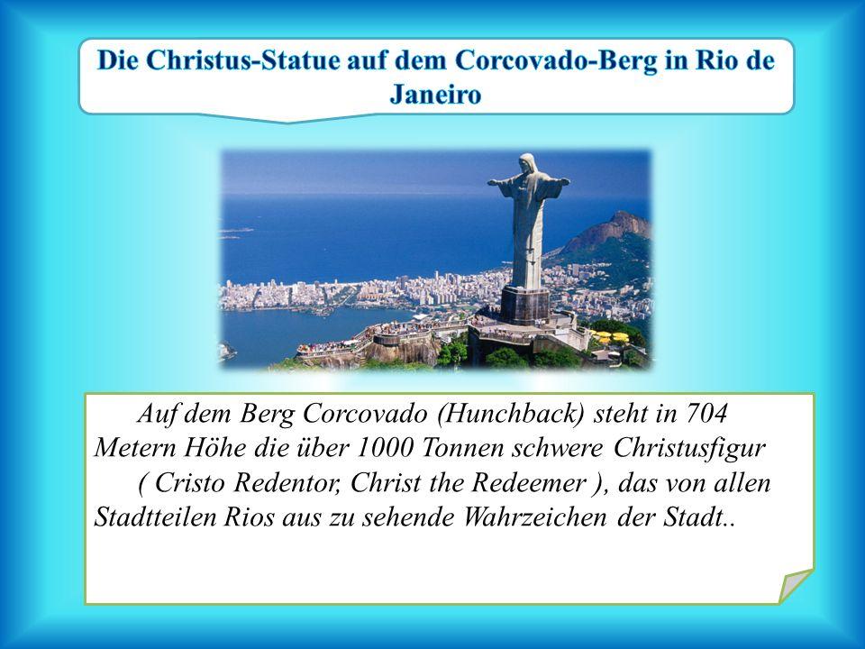 Die Christus-Statue auf dem Corcovado-Berg in Rio de Janeiro